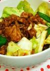 野菜たっぷり甘辛回鍋肉(丼)