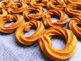 ハロウィンにも♩簡単かぼちゃクッキー