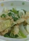 葉玉ねぎとツナの中華炒め