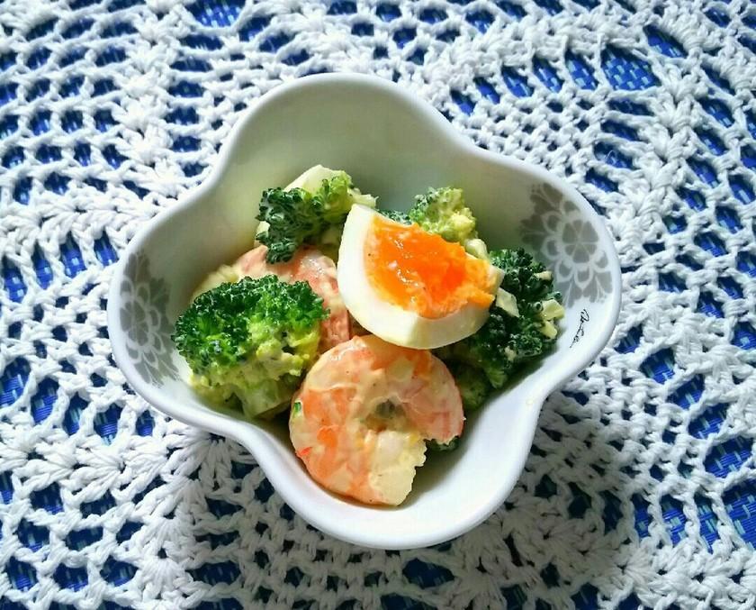 低糖質レシピ☆海老とブロッコリーのサラダ