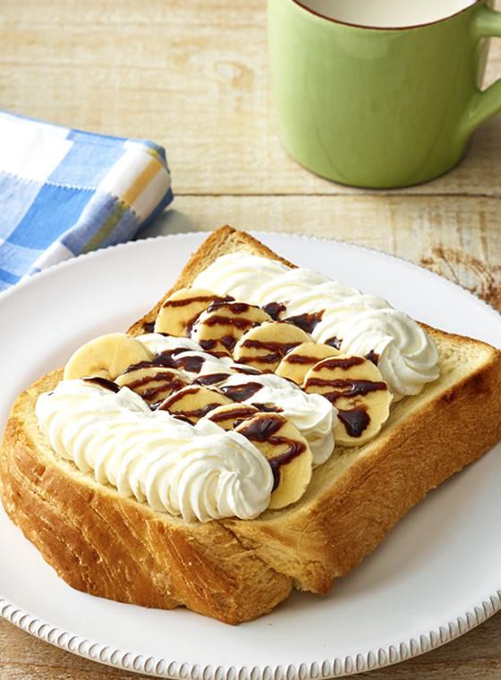 ホイップバナナチョコトースト