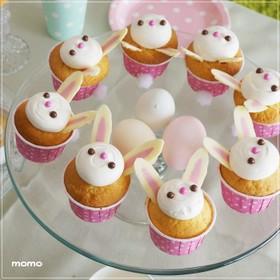 イースターに♡簡単うさぎのカップケーキ