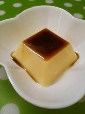 *卵豆腐に黒蜜*