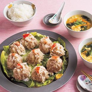 シューマイとスープの中華セット