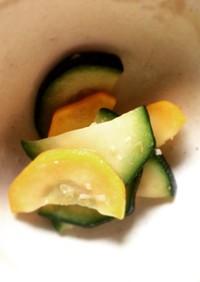 ズッキーニの柚子胡椒ナムル