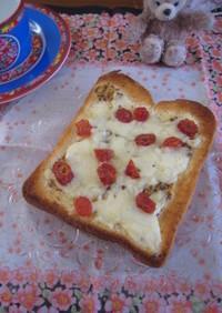 チーズトースト★onドライ塩トマト