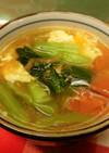 トマト・小松菜・卵のコンソメスープ♪