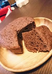 ほわほわお豆腐ココアチョコ蒸しパン