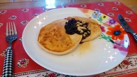 グルテンフリー&卵なし♪きなこパンケーキ