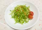 ピーマン入り千切り野菜のグリーンサラダ