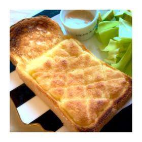 簡単朝食♡バターが香るメロンパントースト