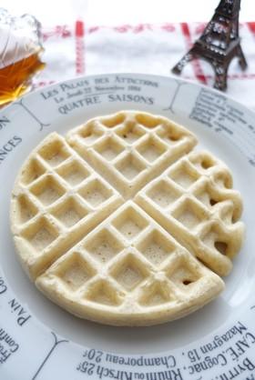 バターも砂糖も不使用の全粒粉豆乳ワッフル