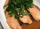 胡麻油香る〜鮭の麺つゆ漬け
