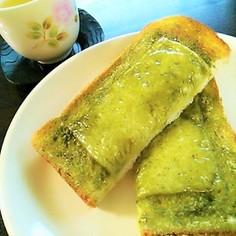 お茶とチーズのトースト