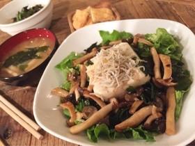 豆腐とシラスの和風サラダ