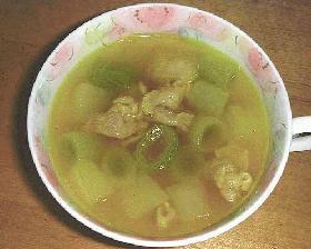 ねぎのカレースープ