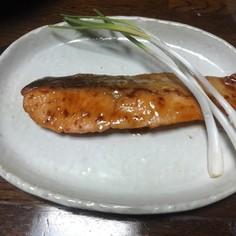 鮭の蒲焼き風