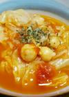 ひよこ豆と春キャベツのトマトスープ