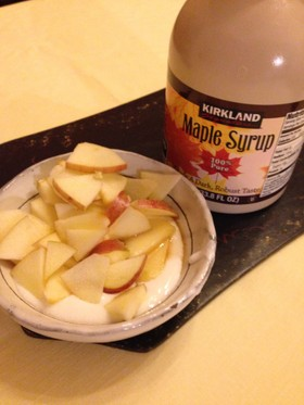 りんごとメープルシロップ♡ヨーグルト