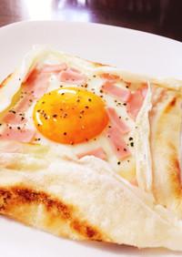 おしゃれ朝食  シンプルなガレット♪