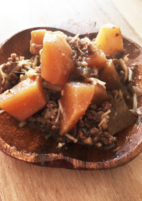 炊飯器で放置!簡単大根とひき肉の煮物