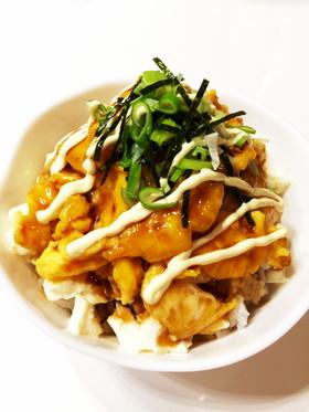包丁いらず♪豆腐のフワ卵甘辛マヨ丼♡