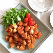 鶏むね肉のケチャップ炒めの写真