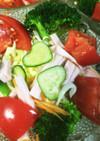 サッパリ春野菜のサラダ(*^_^*)