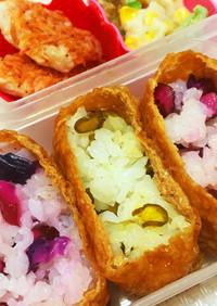 簡単かわいいお花見弁当♡春色いなり寿司