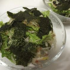 新玉ネギでシャキパリ海苔サラダ