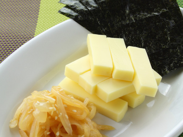 玉ねぎの辛子あえ&のりチーズ
