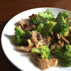 【すぐできて簡単】豚肉とブロッコリー炒め