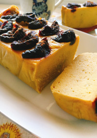 砂糖なし!薩摩芋とプルーンのプリンケーキ