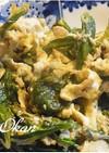お弁当にも(^^春菊と卵の炒め物