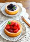 簡単フルーツソースとベイクドチーズケーキ