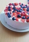 簡単ブルーベリーレアチーズケーキ