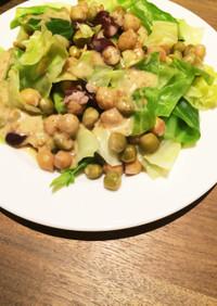 簡単♡キャベツとお豆の温野菜サラダ