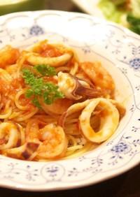 フレッシュトマトと海鮮のスパゲッティーニ