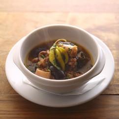 イカと紫花豆の煮込み