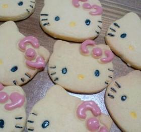 簡単 キティちゃんのバタークッキー