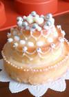杏のミニウェディングケーキ