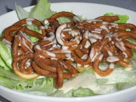 タレが美味!カリポリうどんの節つゆサラダ