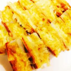 ちくわで簡単〜マヨカレー&チーズ焼き♪