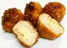 お弁当に!鶏ひき肉のチーズ照り焼き
