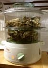 ティファールで蒸し牡蠣