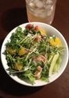 簡単おいしい春の甘夏とタコのサラダ