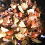 夏野菜のカポナータ deパスタ