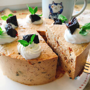 お砂糖なし!プルーンレアチーズケーキの写真