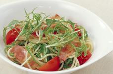 水菜とトマトのパスタサラダ