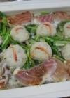 真鯛と野菜の鍋(ブルーノを使って)